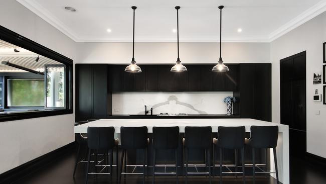 An incredibly sleek kitchen.