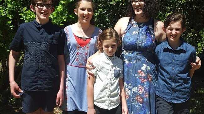 Katrina Miles and her children. Picture: Facebook Source: Supplied