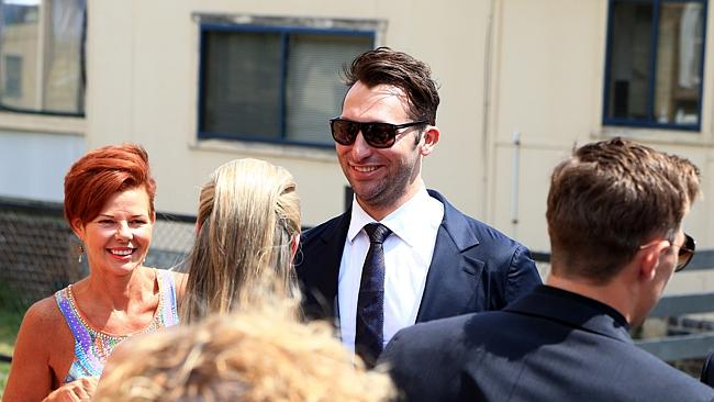 Just last week: A happy-looking Ian Thorpe at Tahyna Tozzi's wedding last week