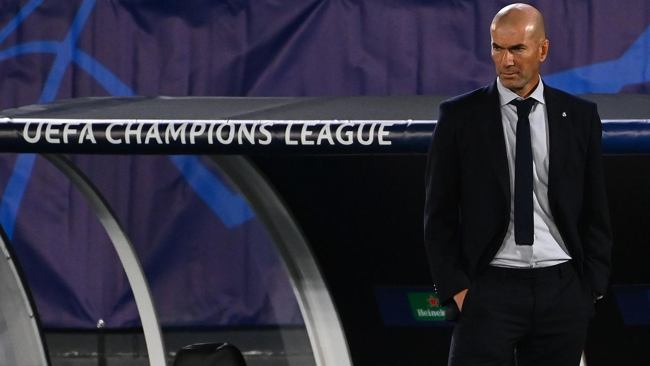 Real Madrid's French coach Zinedine Zidane was furious.
