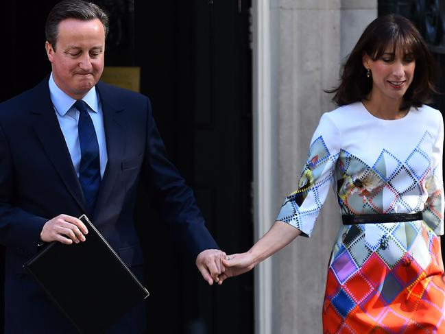 Samantha Cameron had a stiff gin in the morning before going out to face the press. Picture: AFP PHOTO / BEN STANSALL.