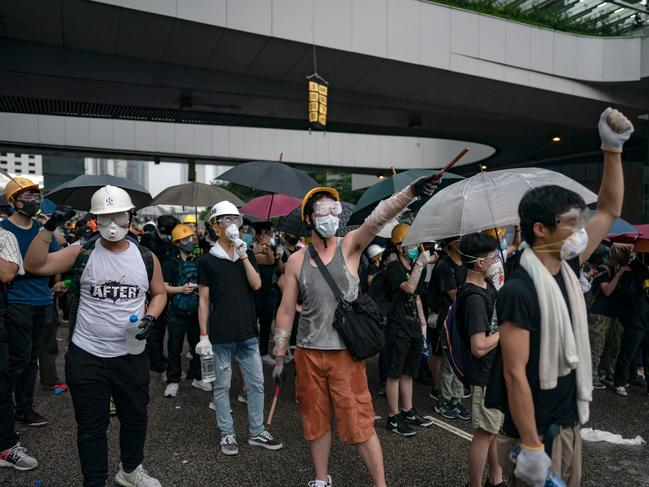 Hong Kong has been hit by its worst riots since China took control of the territory. Picture: Getty Images