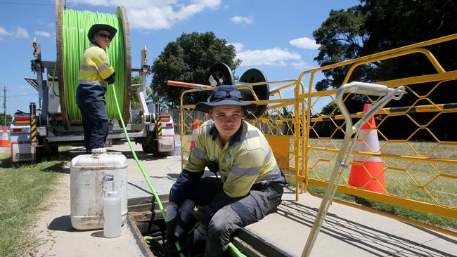 NBN Co made connections available to more than 2.8 million premises during the last financial year. Picture: Chris Higgins