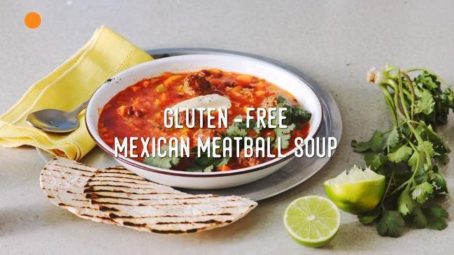 How to make gluten-free Mexican meatball soup