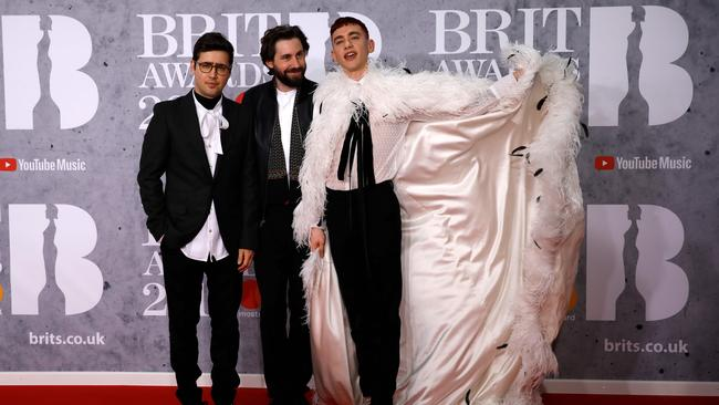 Years & Years, with Olly at right. Picture: Tolga AKMEN / AFP