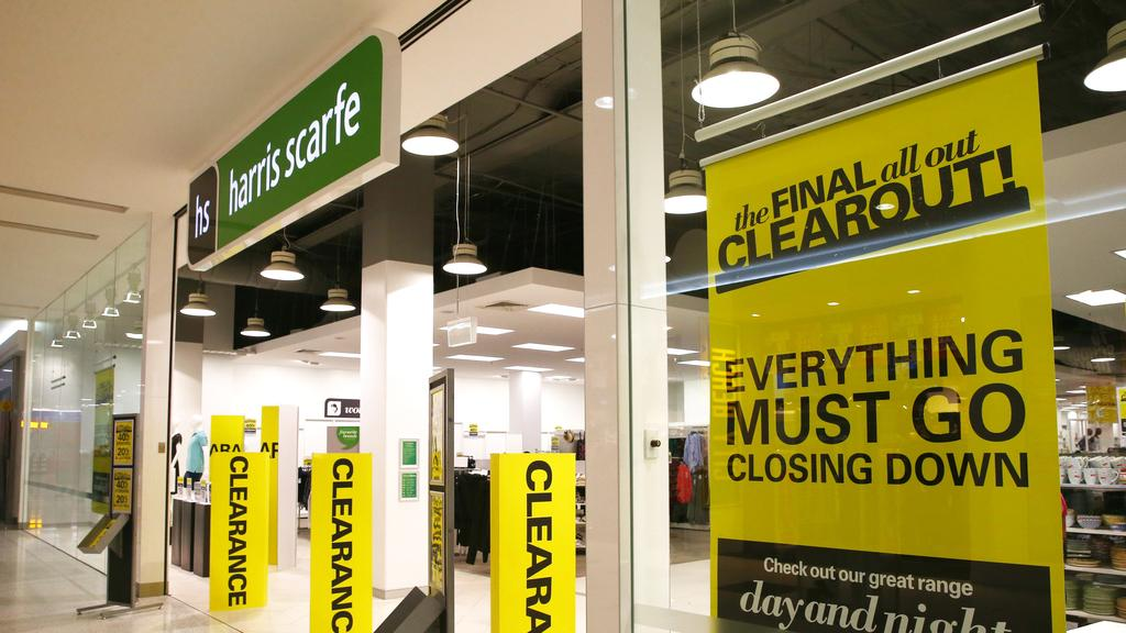 While 21 Harris Scarfe department stores will shutter. Picture: Brendan Radke