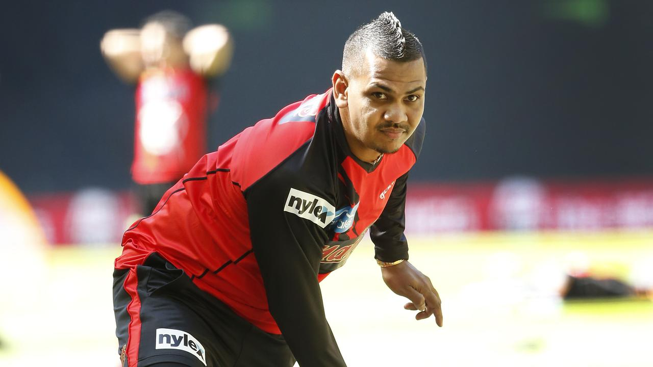 Sunil Narine has been reported for a suspect action.