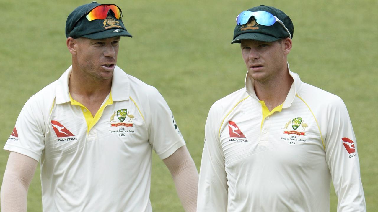 Banned Australian cricketers David Warner and Steve Smith.
