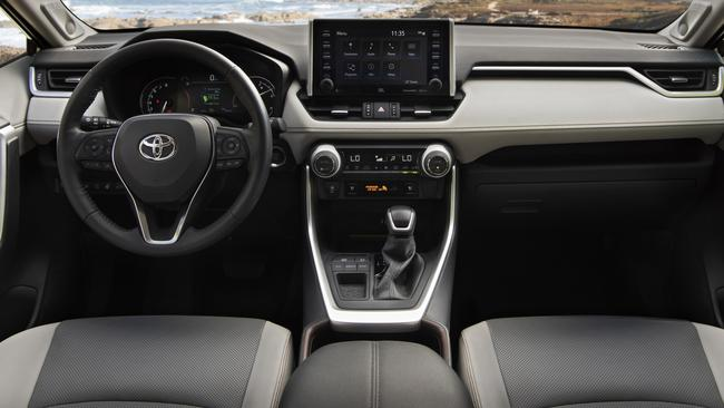 The RAV4's interior now matches the standard of the competition (US model shown).