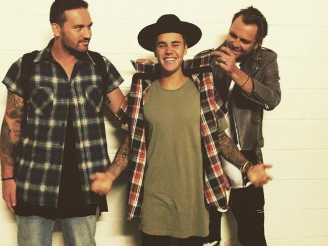 Justin Bieber at Hillsong in Sydney. Picture: Instagram