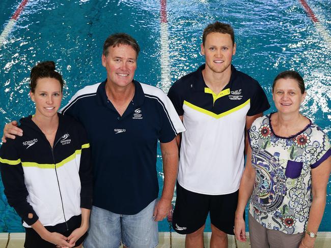 The McKeon family — Emma, Ron, David, & Susie. Picture: Liam Kidston.