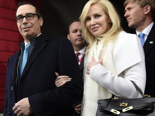 US Treasury Secretary Steven Mnuchin and Louise Linton wed this year. Picture: Saul Loeb/Pool Photo via AP, File