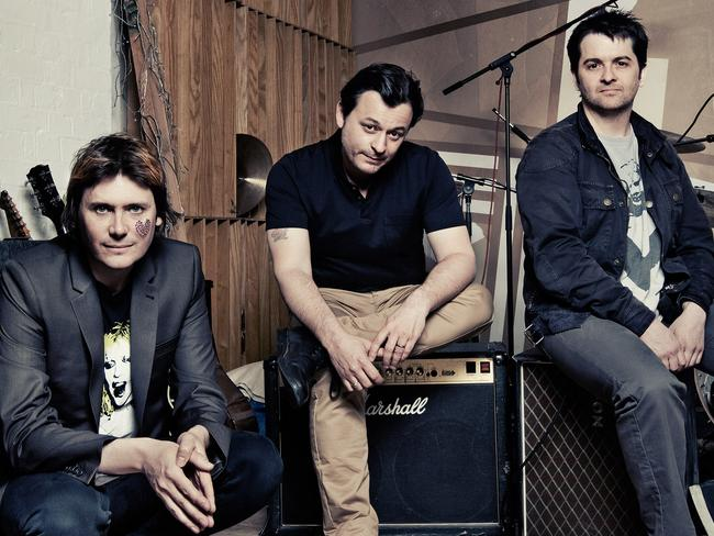 Still making music ... The Welsh band Manic Street Preachers during their tour of Australia in 2013. Picture: Supplied