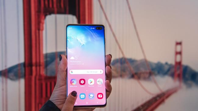 Samsung chose to launch its Galaxy S10 smartphones in San Francisco. Picture: Jennifer Dudley-Nicholson/ News Corp Australia