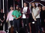 "Violent Soho wins ""Best Group"" at the 30th Annual ARIA Awards 2016 at The Star on November 23, 2016 in Sydney, Australia. Picture: Christian Gilles"