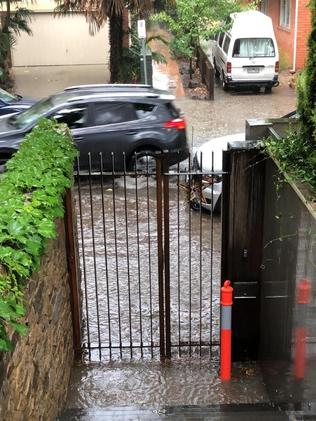 Parts of South Yarra have flooded.