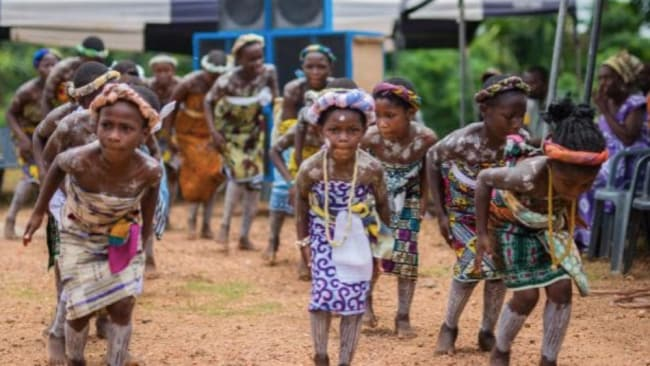 Children in the cocoa farming village of Okwampa, near Accra in Ghana. Picture: Kwabena Agyeman / KwaMani Photography.Source:Supplied