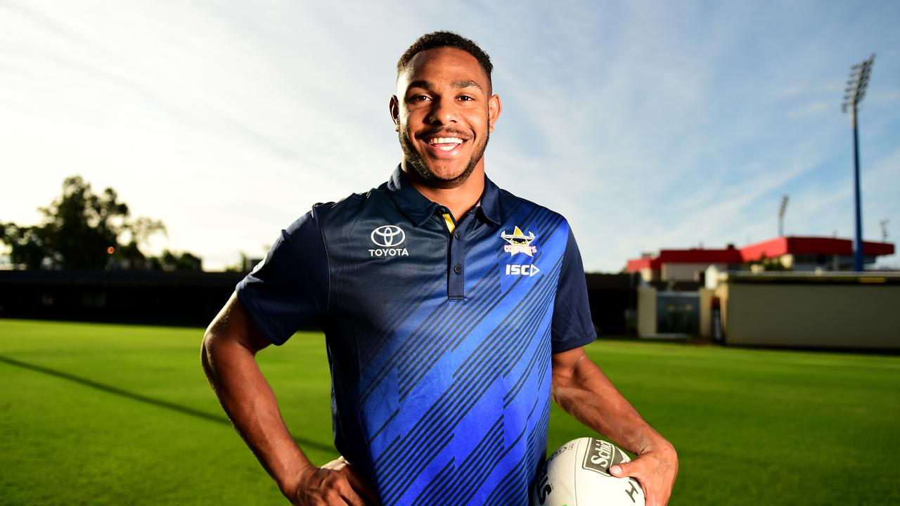 North Queensland Cowboys rising star Hamiso Tabuai-Fidow.