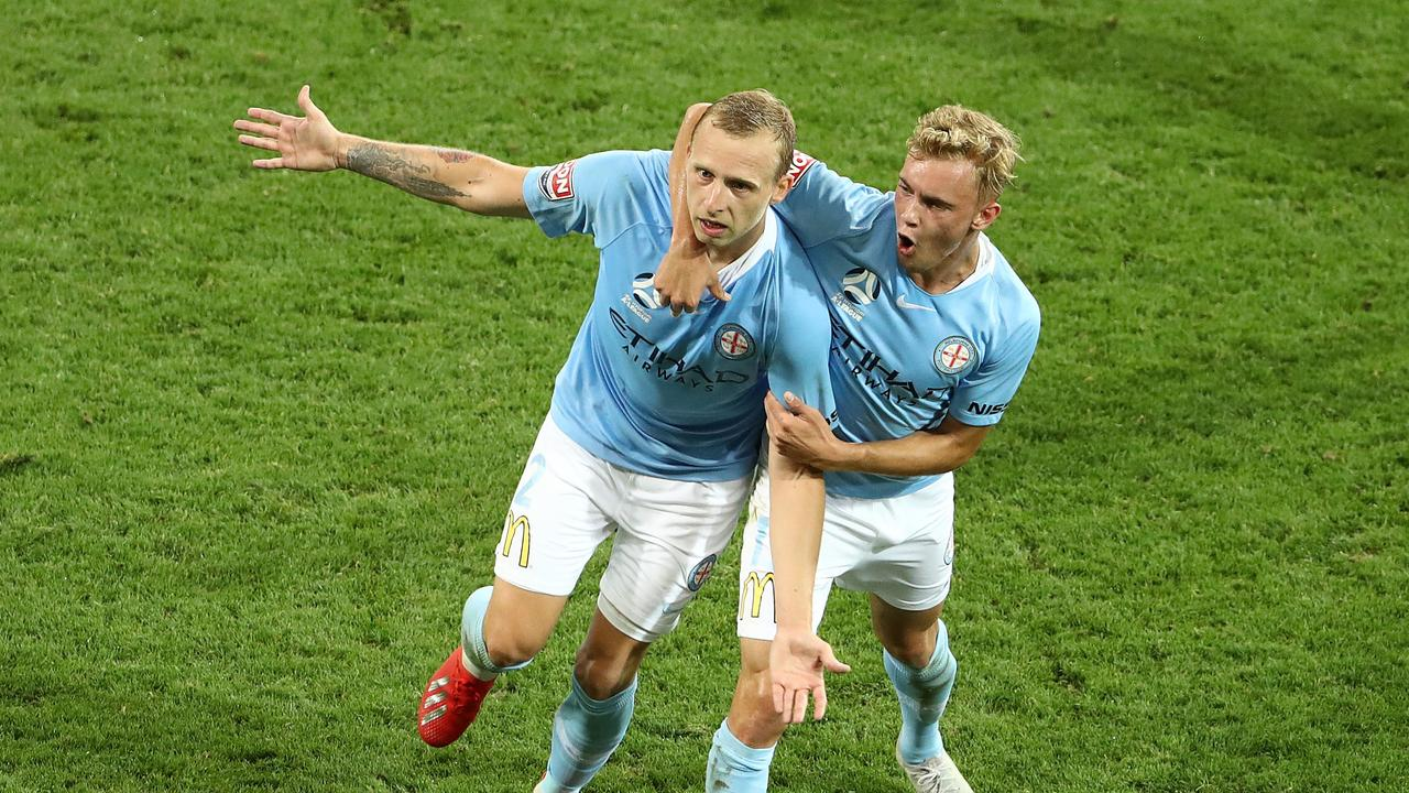 Melbourne City have come from behind to beat Western Sydney Wanderers at AAMI Park.