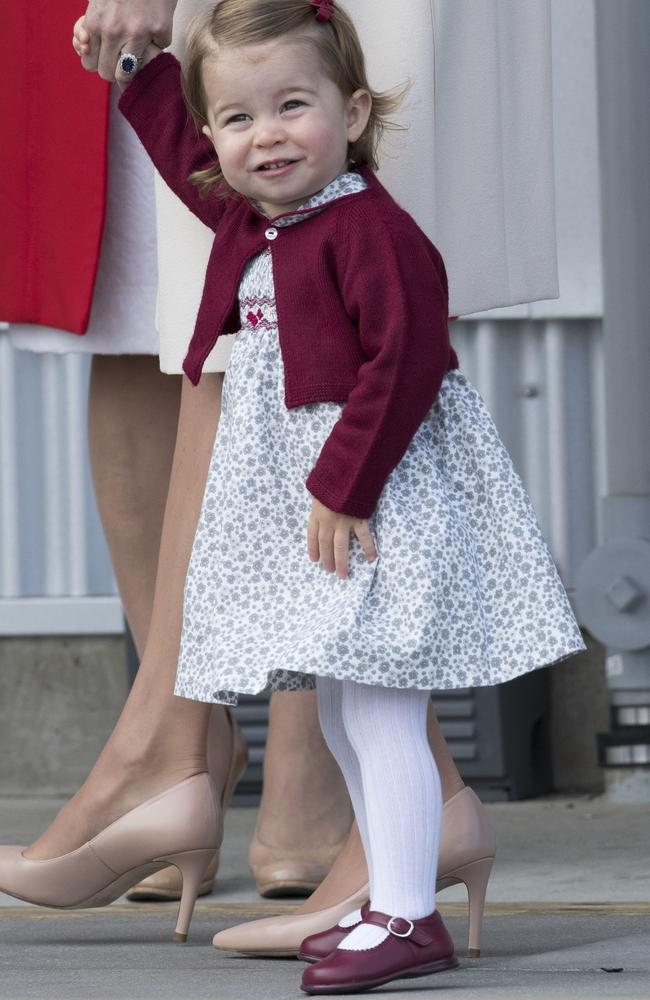 Princess Charlotte pictured in Canada, October 2016. Picture: Stephen Lock/Getty Images