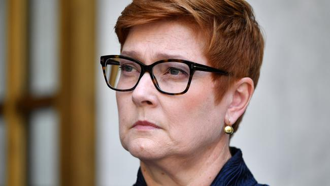 Minister for Foreign Affairs Marise Payne has resisted calls to ban China flights. Picture: AAP Image/Mick Tsikas.