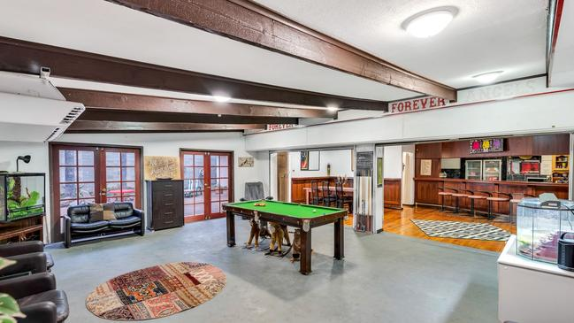 The feared bikie bang's 'Angels Forever — Forever Angels' motto has become 'Forever Forever' in the bar. Source: Realestate.com.au
