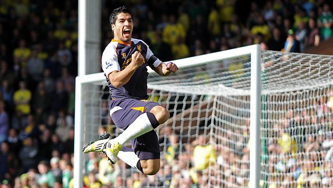 491b35783 Luis Suarez scores hat-trick as Liverpool break through for first win under  Brendan Rodgers