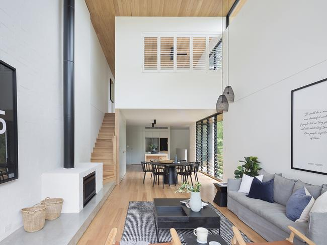 A double-height ceiling and blackbutt flooring and an architect's eye.