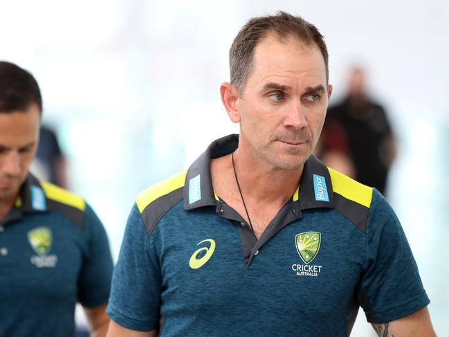 Australian head coach Justin Langer was thrilled when he saw the waiting media.