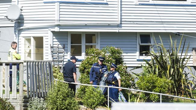 Police attend the home address of Brenton Harrison Tarrant. Picture: Joe Allison/Allison Images for news.com.au