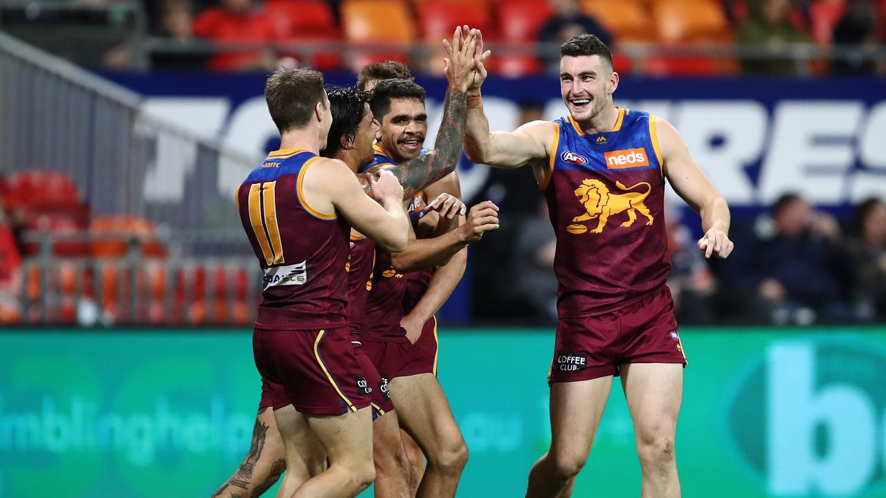 The Lions have jumped into the top four after beating GWS. Photo: Brendon Thorne/AAP Image.