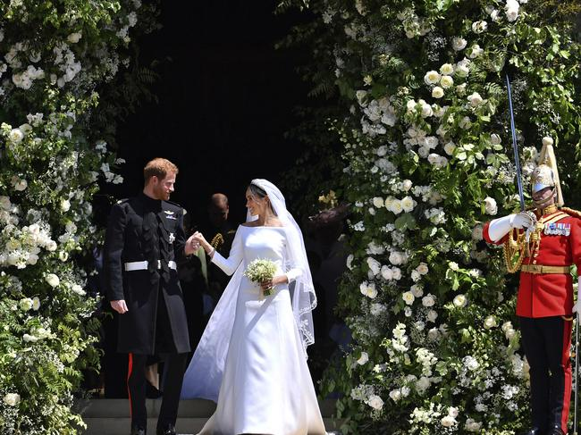 "Prince Harry and Meghan married in a fairytale wedding but sources claim she has since become frustrated at being told ""no"" about her ideas for her role. Picture: AP"