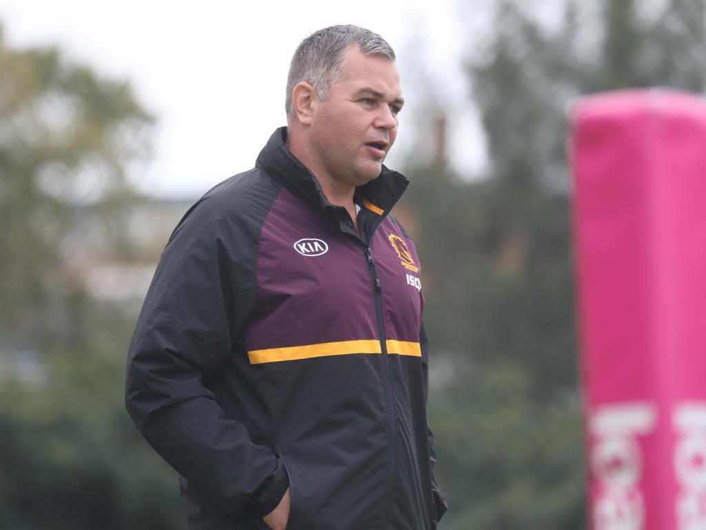 Under-fire Broncos coach Anthony Seibold. Picture: Annette Dew