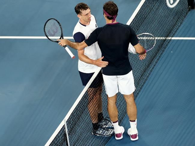 There was incredible respect between Roger Federer and John Millman.