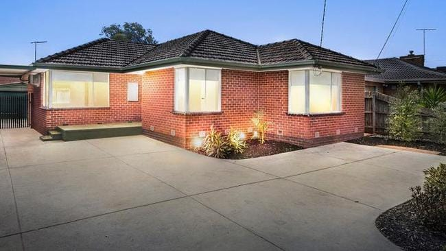 The three-bedroom house at 27 Yuille St, Melton, is on the market for $429,000-$469,000.