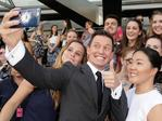 Rove McManus takes a selfie with fans ahead of the 29th Annual ARIA Awards 2015 at The Star on November 26, 2015 in Sydney, Australia. Picture: Mark Metcalfe / Getty Images