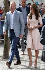 Catherine, Duchess of Cambridge and Prince William, Duke of Cambridge arrive at Truro Cathedral during a royal visit to Cornwall on September 1, 2016 in Truro, United Kingdom. Picture: Getty