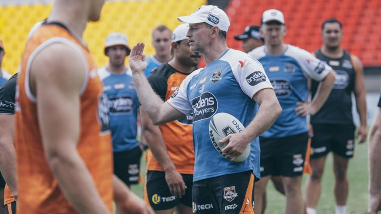 Maguire taking charge during the Tigers pre-season training session. Pic: Tigers media