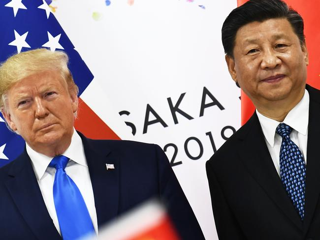 Chinese President Xi Jinping (R) and US President Donald Trump. Picture: AFP