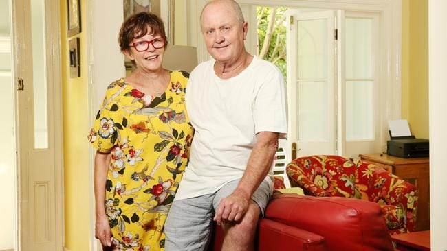 Marie and Kel Riordan rent out part of their home through Airbnb. Picture: Richard Dobson