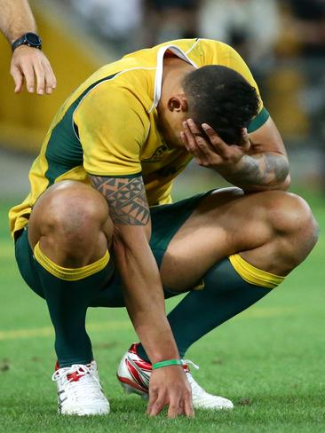 Israel Folau is gutted after the Wallabies lost to the All Blacks.