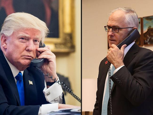 US President Donald Trump and Australian Prime Minister Malcolm Turnbull. Picture: Supplied