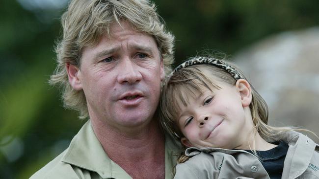 Steve Irwin with Bindi when she was five.