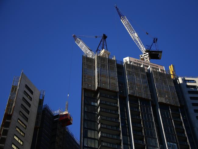 The number of completed developments is one of the main factors as to why the rental market is struggling. Picture: AAP Image/David Gray.