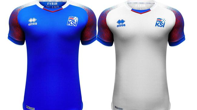 Iceland's home and away kit