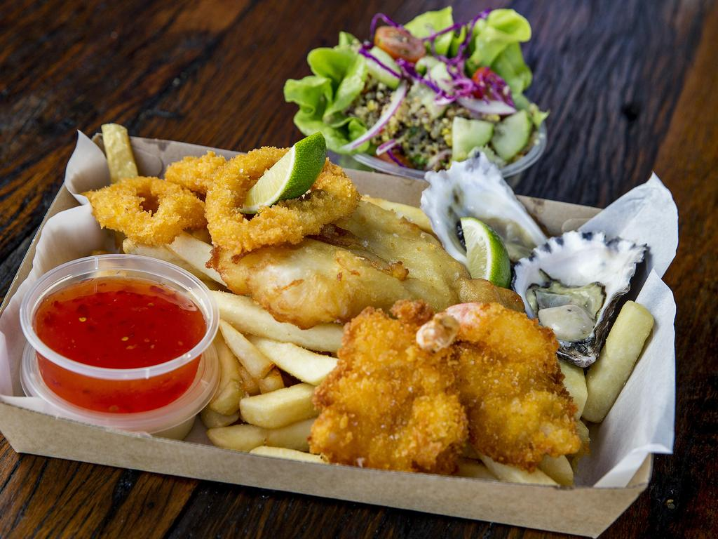 The famous Burleigh Beach Box from Red Hot Cod. Picture: Jerad Williams