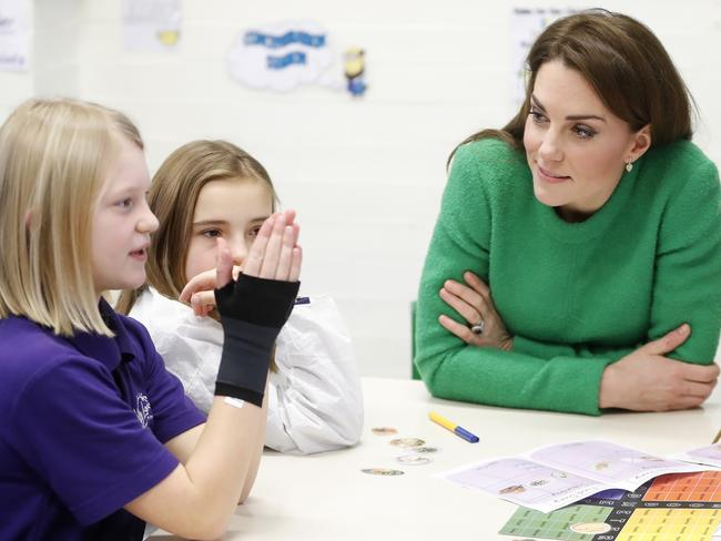 Kate met with children from Lavender Primary school.