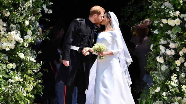 Harry and Meghan tied the knot at Windsor Chapel in May. Picture: AFP