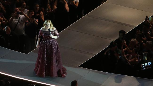 Adele performs at Brisbane's The Gabba during her 2017 Australian tour. Picture: Jack Tran