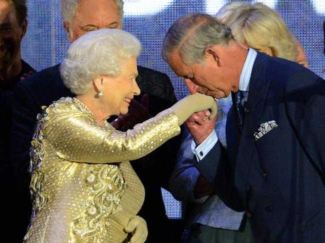 Charles' relationship with his mother has always been more distant. Picture: LEON NEAL / AFP